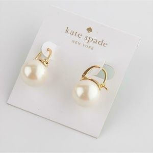 NEW Kate Spad Shine On Bauble Cream Drop Earrings